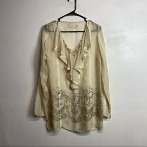 4 love & liberty silk sheer rubble top Johnny was